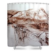 Mountains In Snowdonia Shower Curtain