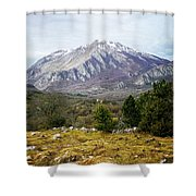 Mountains In The Background X Shower Curtain