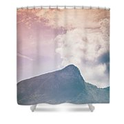 Mountains In The Background Xv Shower Curtain