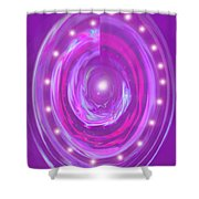 Moveonart Christmas 2009 Collection Opportunity Light Wreath Shower Curtain
