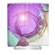 Moveonart Inspiration  Intuition  Intellect Shower Curtain