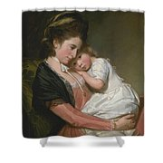 Mrs Johnstone And Her Son Shower Curtain
