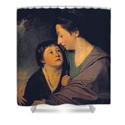 Mrs Richard Cumberland And Her Son Charles Shower Curtain