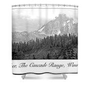 Mt. Baker, Cascade Range, Late Afternoon Shower Curtain