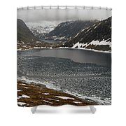 Mt. Dalsnibba And The Serpentine Descent To The Geirangerfjord Shower Curtain