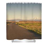 Mt Hood Sunset Shower Curtain