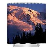 Mt. Rainier Dawn And Clouds Shower Curtain