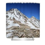 Muir Pass Panorama From High Above - John Muir Trail Shower Curtain