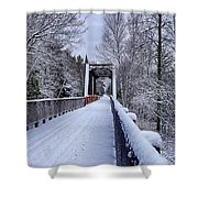 Munger Trail Bridge Shower Curtain
