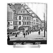 Munich, Germany, Street Scene, 1903, Vintage Photograph Shower Curtain