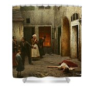 Murder In The House Shower Curtain