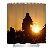 Mushers At Sunrise Shower Curtain