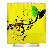 Music Flows Collection Shower Curtain