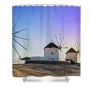 Mykonos, Greece Shower Curtain