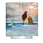 Mysteen The Mystical Queen Of The Sea Shower Curtain