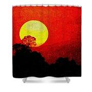 Mystic Sunset H A Shower Curtain