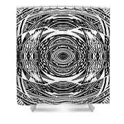Mystical Eye - Abstract Black And White Graphic Drawing Shower Curtain