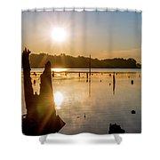 Mystical Sunrise On The Lake Shower Curtain