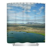 Beautiful Myvatn, Iceland Shower Curtain