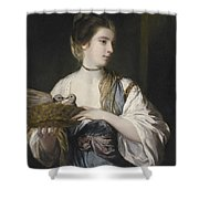 Nancy Reynolds With Doves Shower Curtain