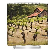 Napa Barn Shower Curtain