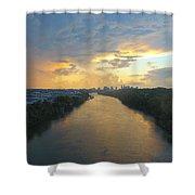 Nashville Sunset  Shower Curtain
