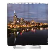 Nashville Tennessee Skyline Sunrise  Shower Curtain