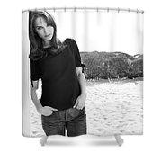 Natalie Portman Shower Curtain