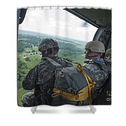 National Guard Special Forces Await Shower Curtain