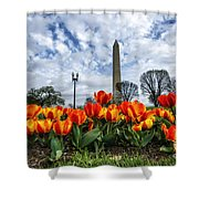 National Park Service Floral Library Shower Curtain