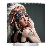 Native American Shower Curtain