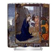 Nativity With Shepherds Shower Curtain