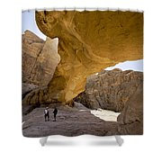 Natural Arch In Wadi Rum Shower Curtain