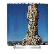 Natural Rock Formation At Mono Lake, Eastern Sierra, California, Shower Curtain