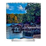 Nature Landscapes Around Lake Wylie South Carolina Shower Curtain