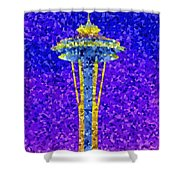 Needle In Mosaic Shower Curtain