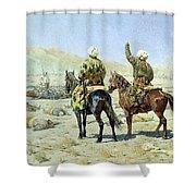 negotiators Surrender - Go to hell 1873 Vasily Vereshchagin Shower Curtain