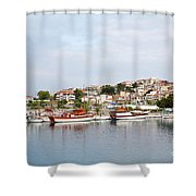 Neos Marmaras Sithonia Halkidiki Greece Shower Curtain
