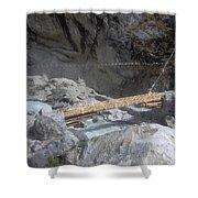 Nepal Bridge Shower Curtain