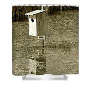 Nesting Box Shower Curtain