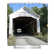 Nevins Covered Bridge Indiana Shower Curtain