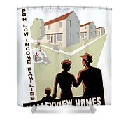 New Deal: Wpa Poster Shower Curtain