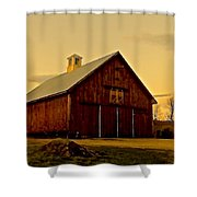 New England Barn Shower Curtain