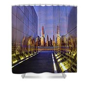 New Jersey Empty Sky 9-11 Memorial Shower Curtain