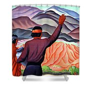 New Mexico And Arizona Rockies Shower Curtain