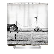 New Mexico Roadside Shower Curtain