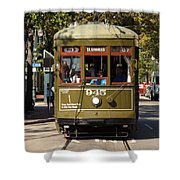 New Orleans Cable Car Shower Curtain