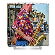 New Orleans Jazz Sax Shower Curtain