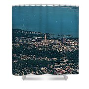 New Rochelle Real Estate Aerial Photo Shower Curtain