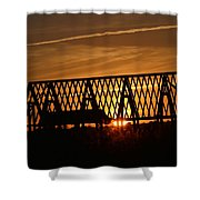 New Roof At Sunset Shower Curtain